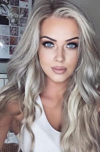 пепельный цвет волос блонд фото