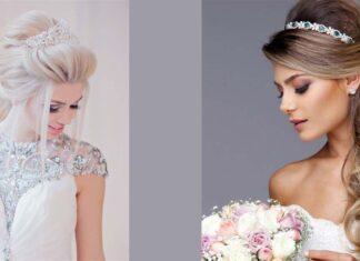 стильные идеи свадебных причесок с диадемой