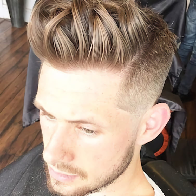High Skin Fade and Longer Hair