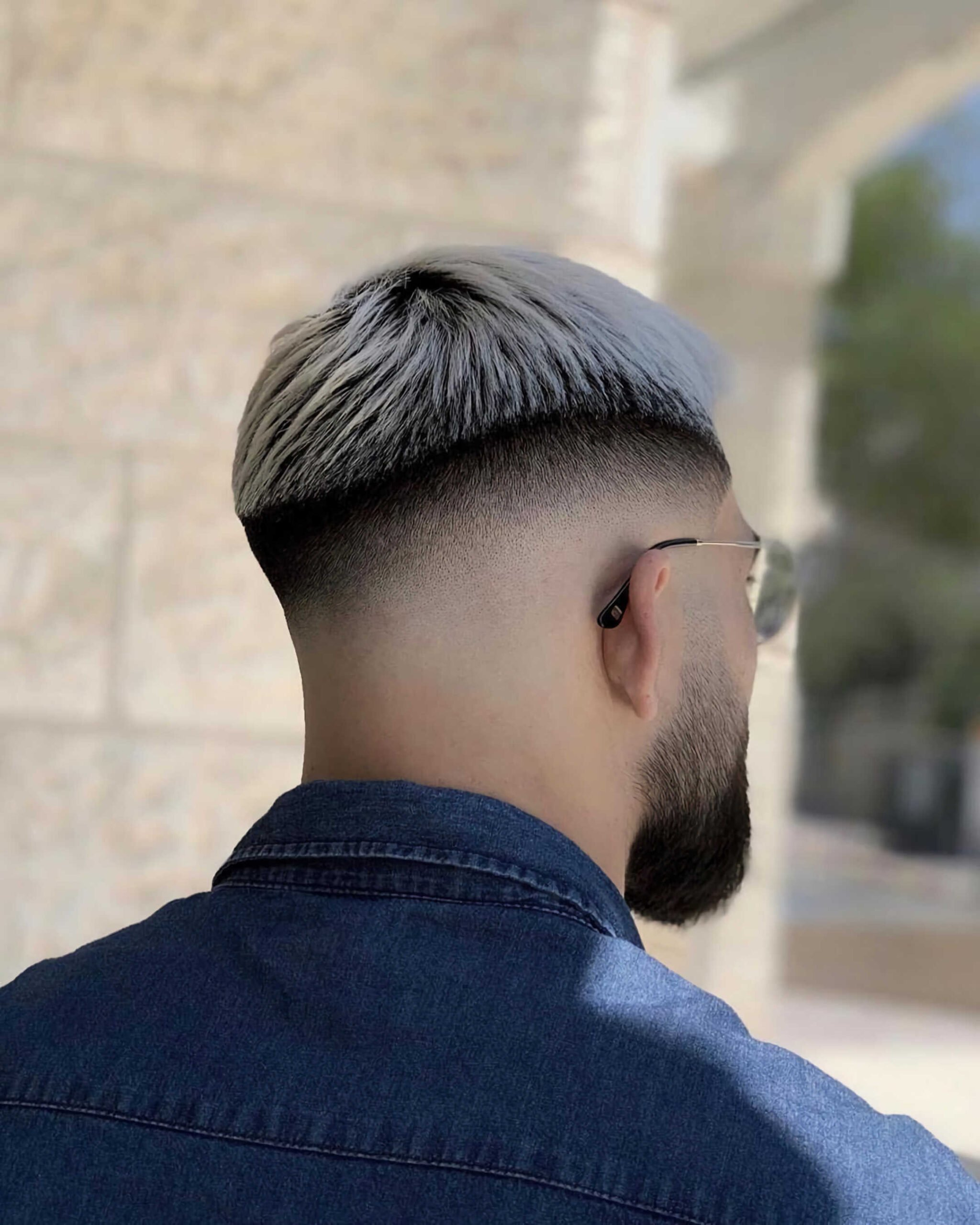 High Fade and Natural Part