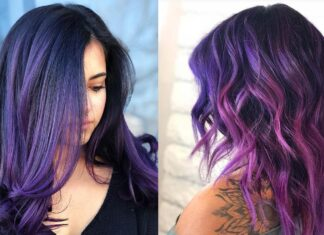 фиолетовый омбре