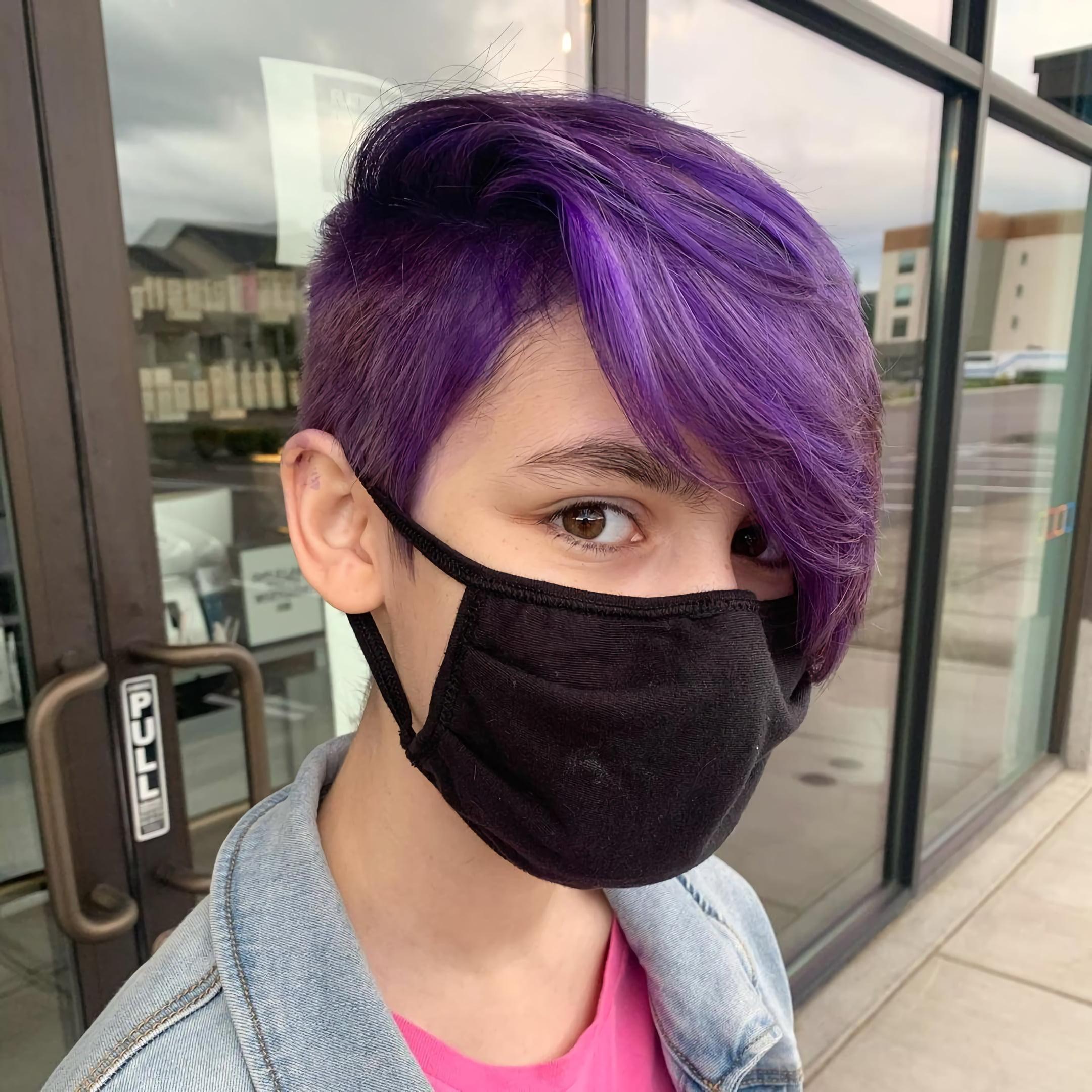 Фиолетовый андеркат в стиле пикси