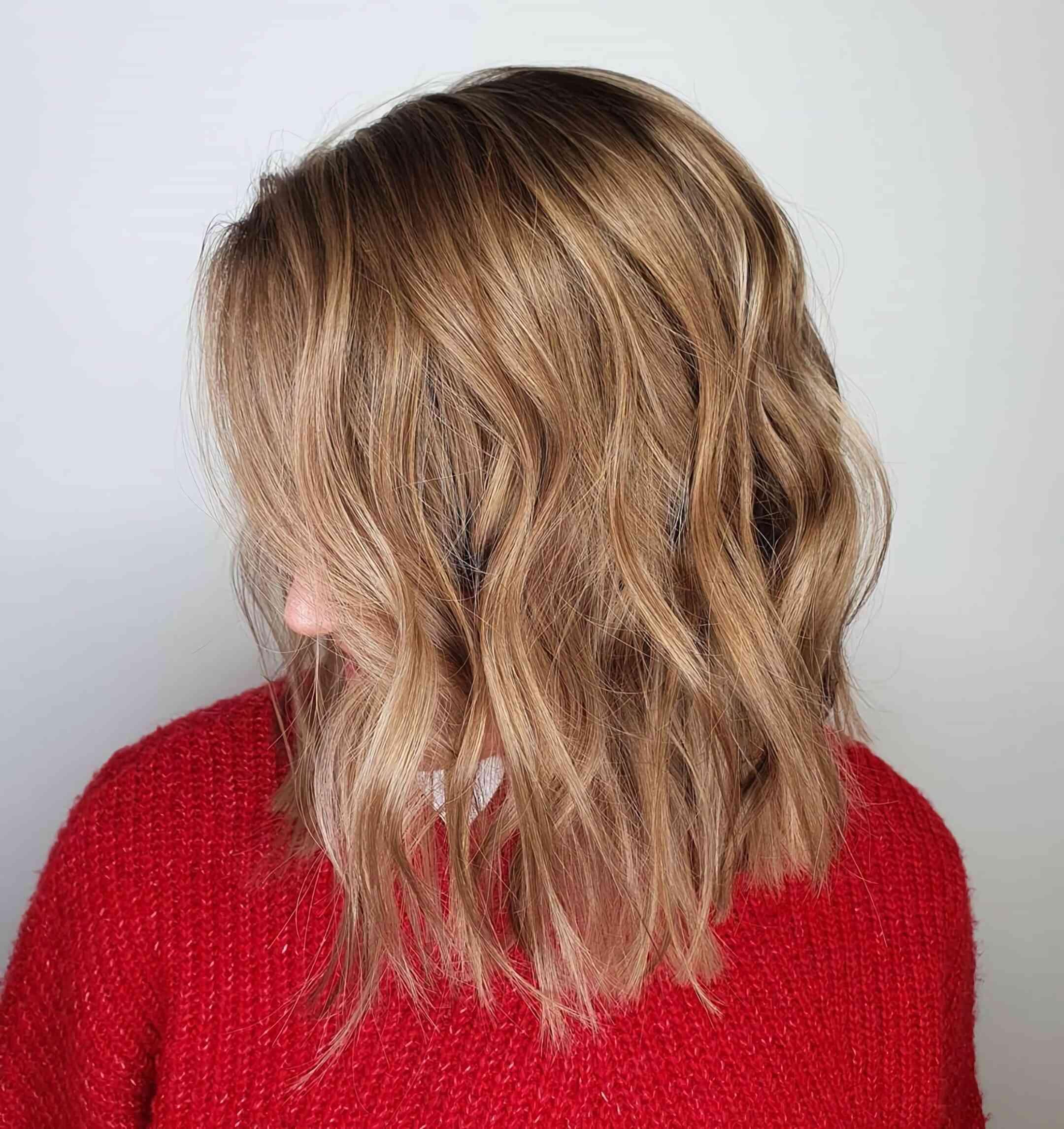 красивый градуированный боб каре на длинные волосы