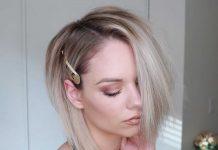 платиновые волосы омбре на каре