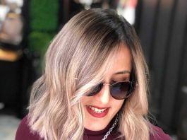модные средние волосы с омбре