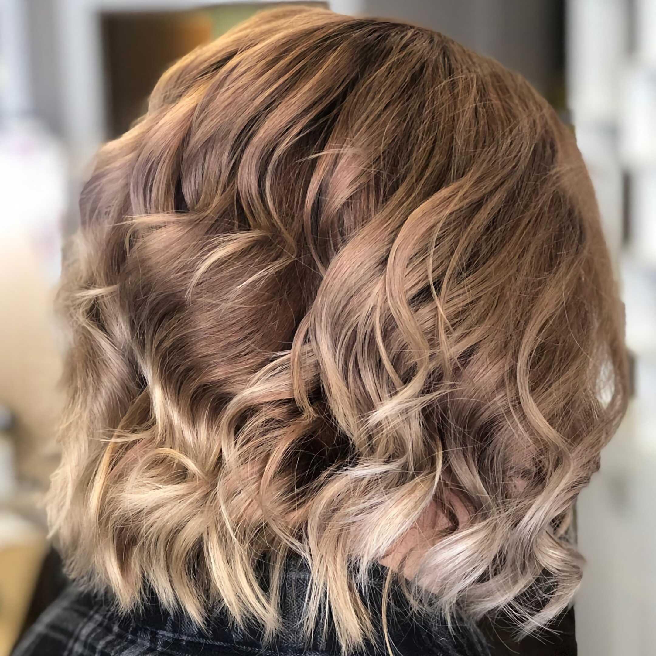 модное окрашивание омбре на короткие волосы
