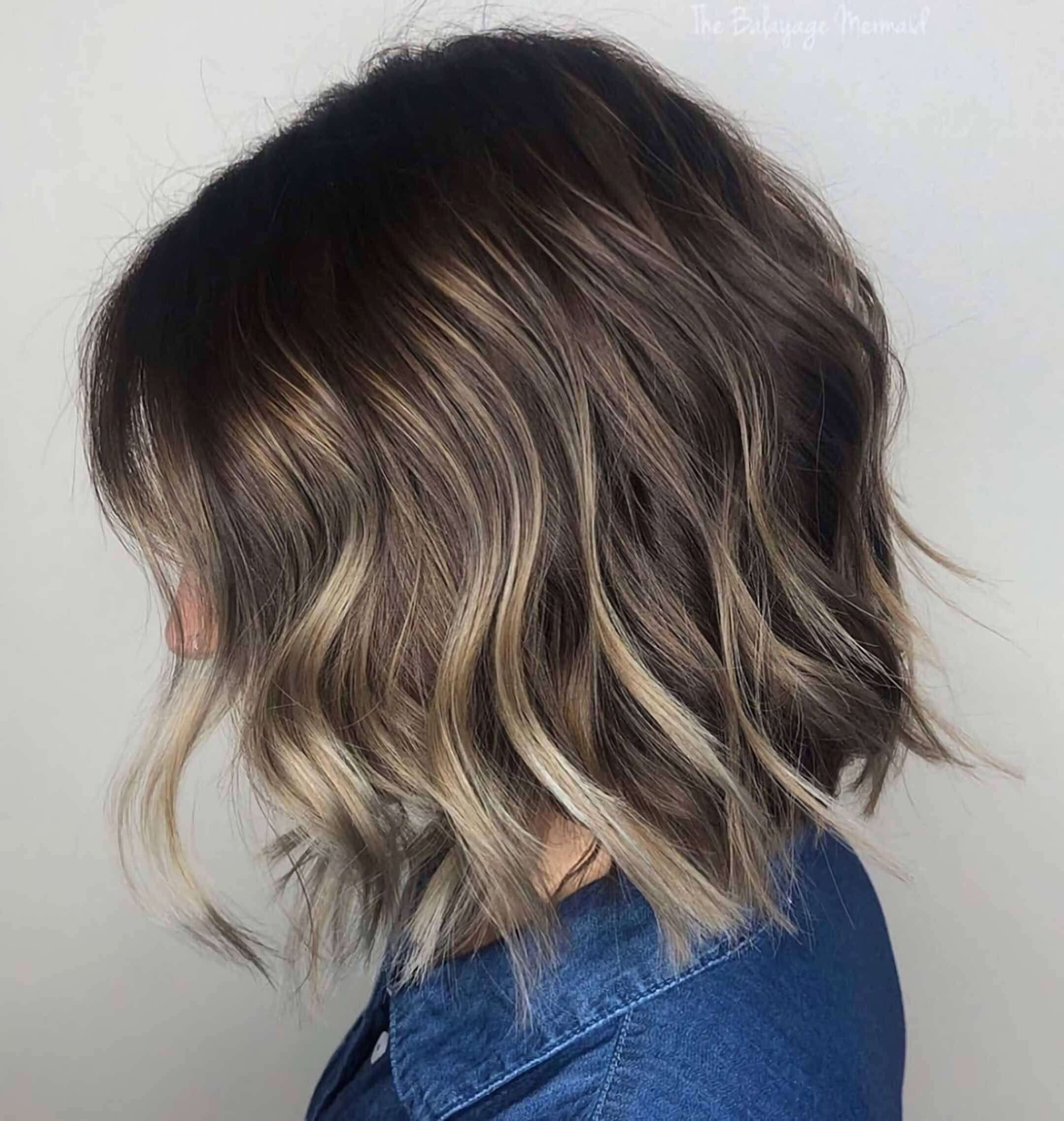 модный балаяж на короткие волосы