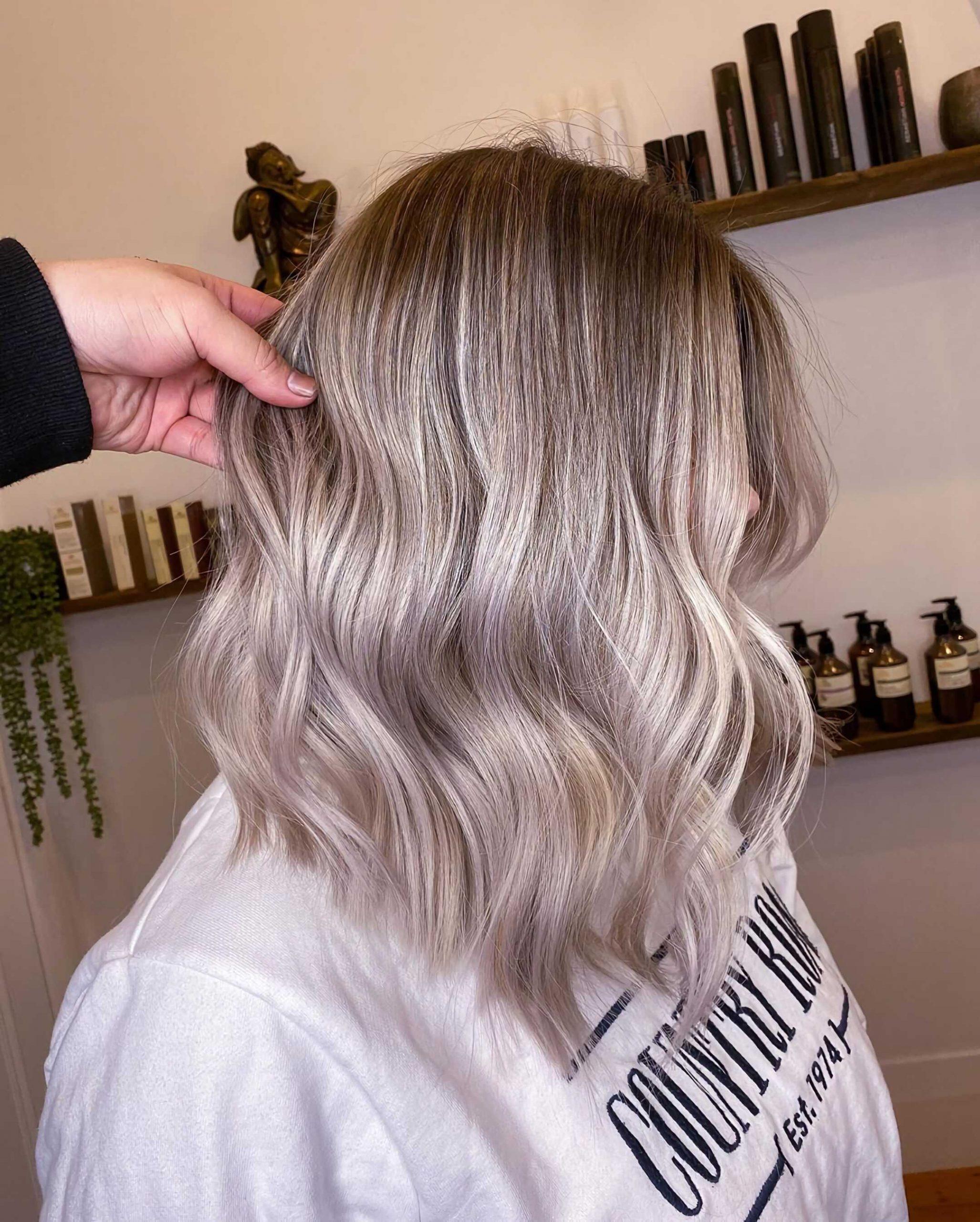 балаяж на светлы волосы