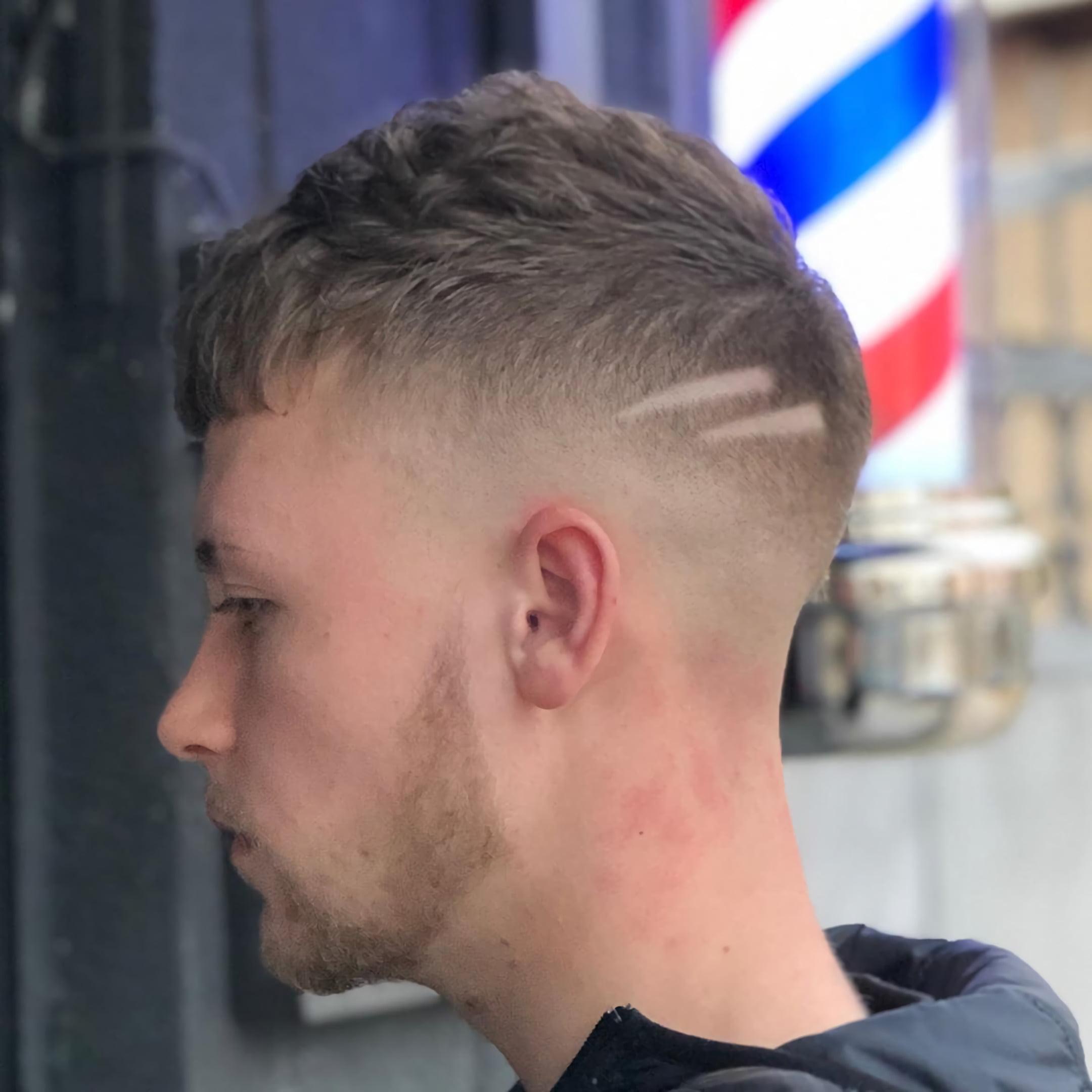 простая стрижка цезаря на короткие волосы