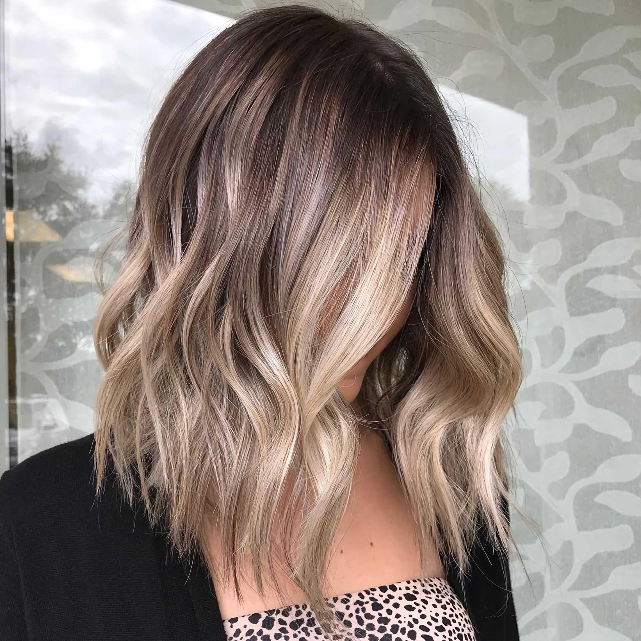 окрашивание балаж на короткие волосы