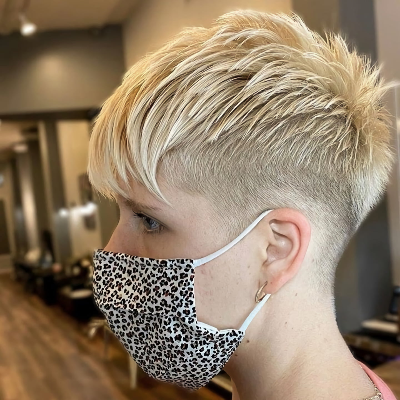Стрижка пикси для тонких волос