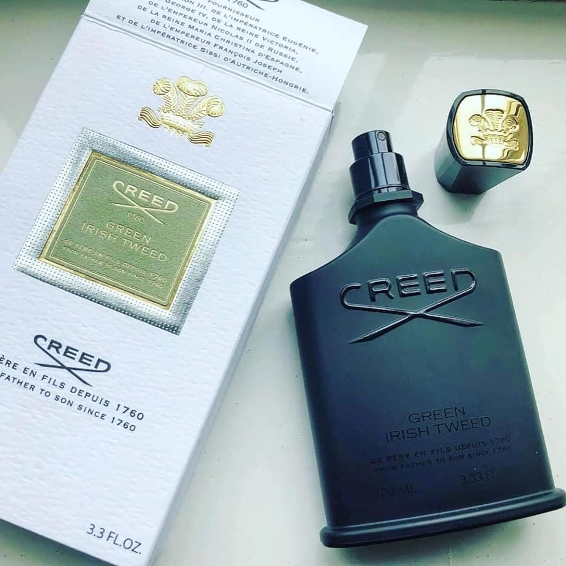 лучшие весенние духи для мужчин с зеленым запахом Creed Green Irish Tweed
