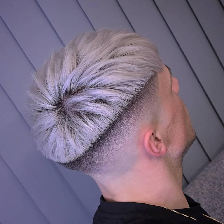 Мужская короткая стрижка для густых волос