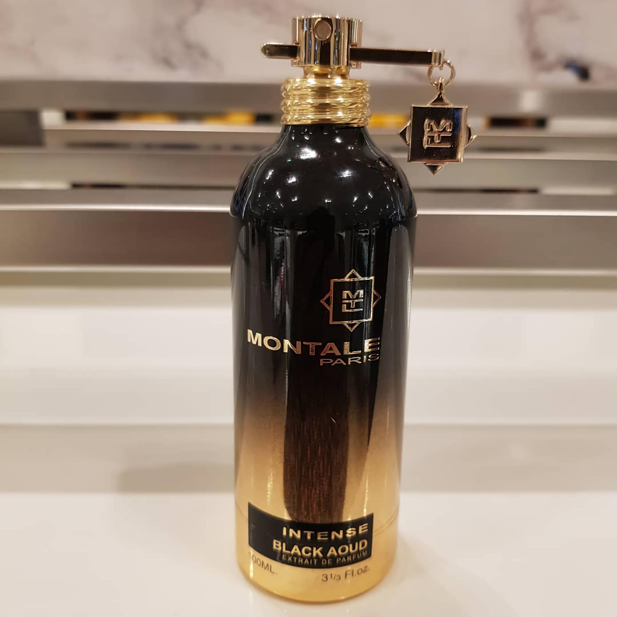 стильные духи с темным запахом Montale Intense Black Aoud