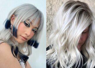модный платиновый цвет волос