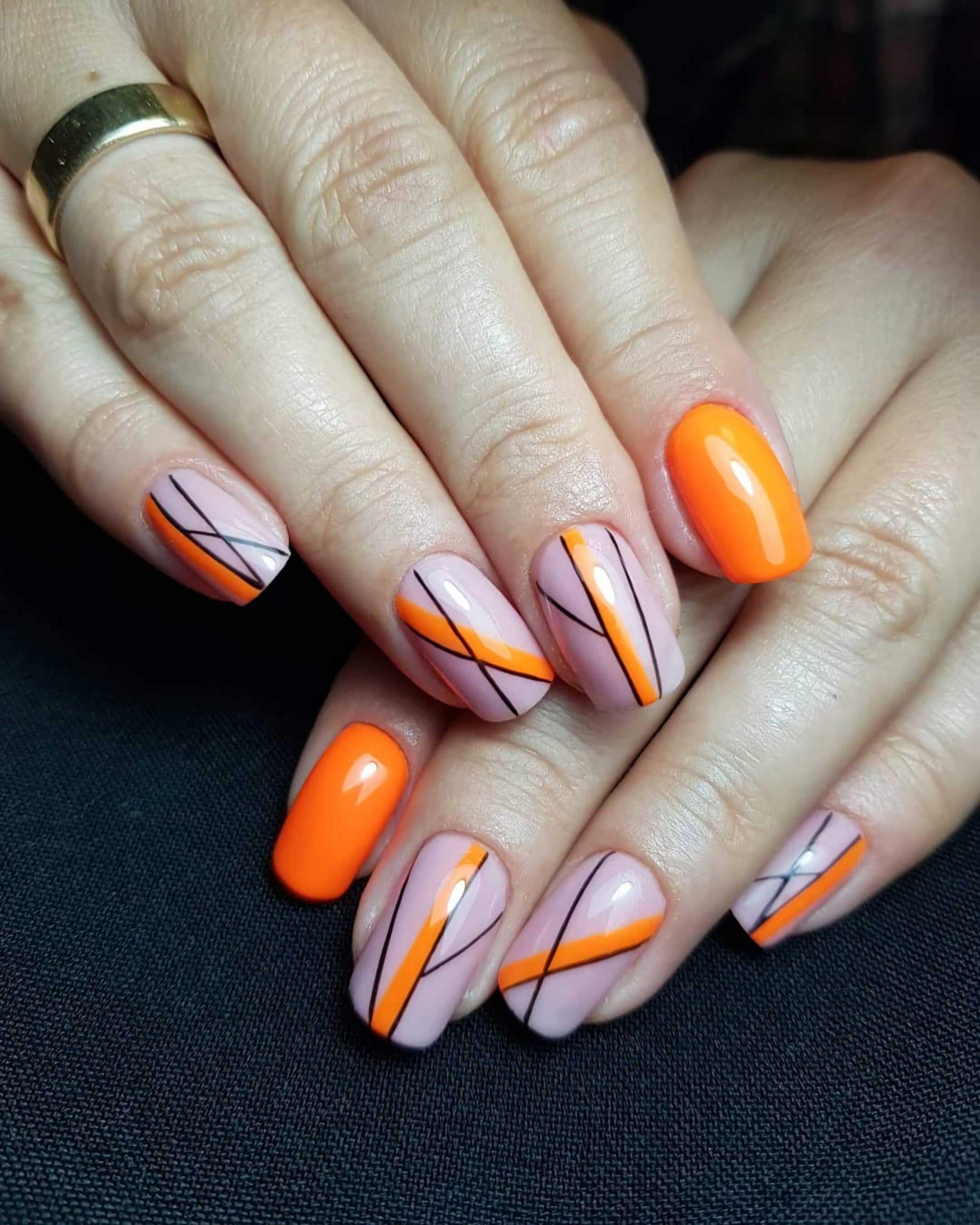современный минималистические ногти
