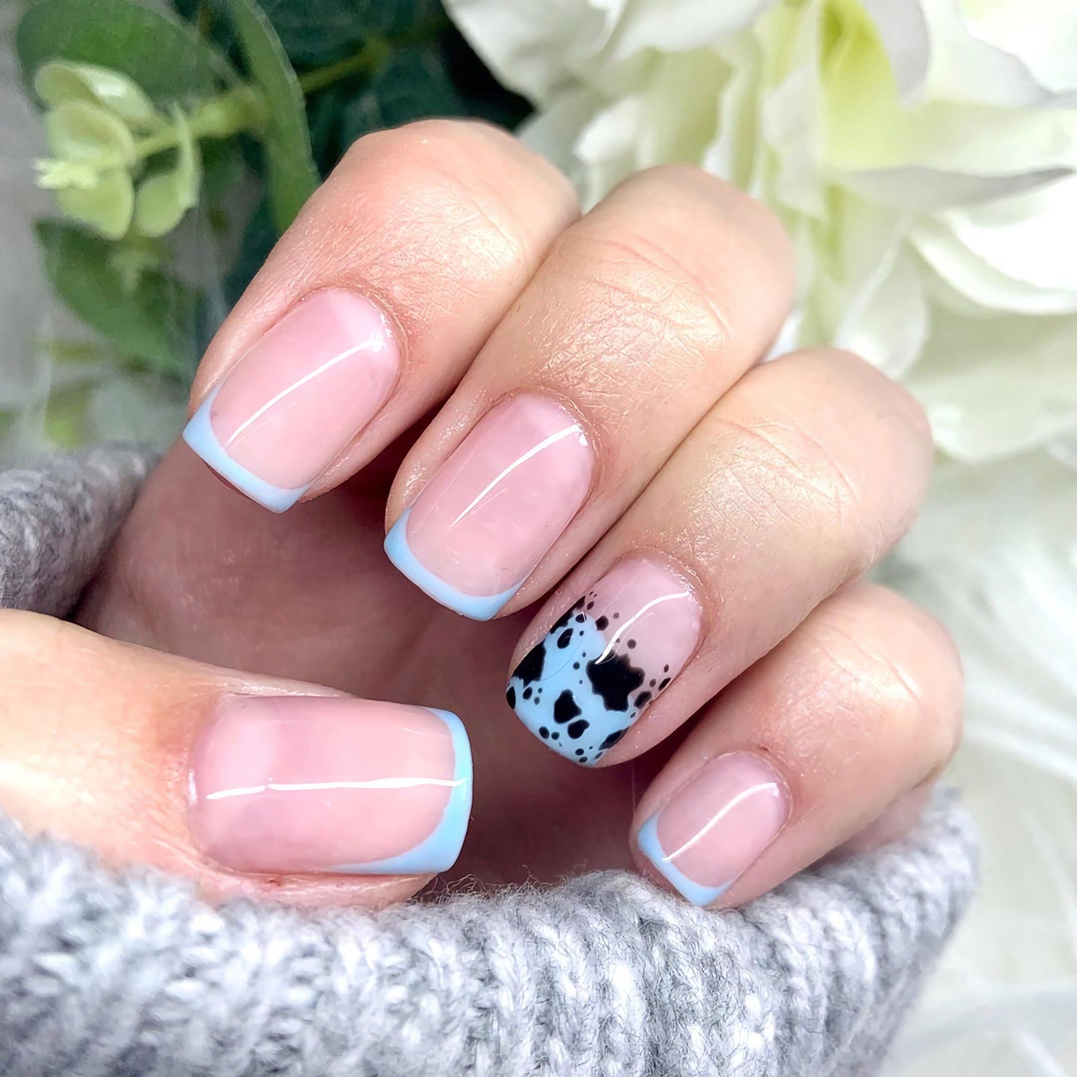 красивые ногти квадратной формы
