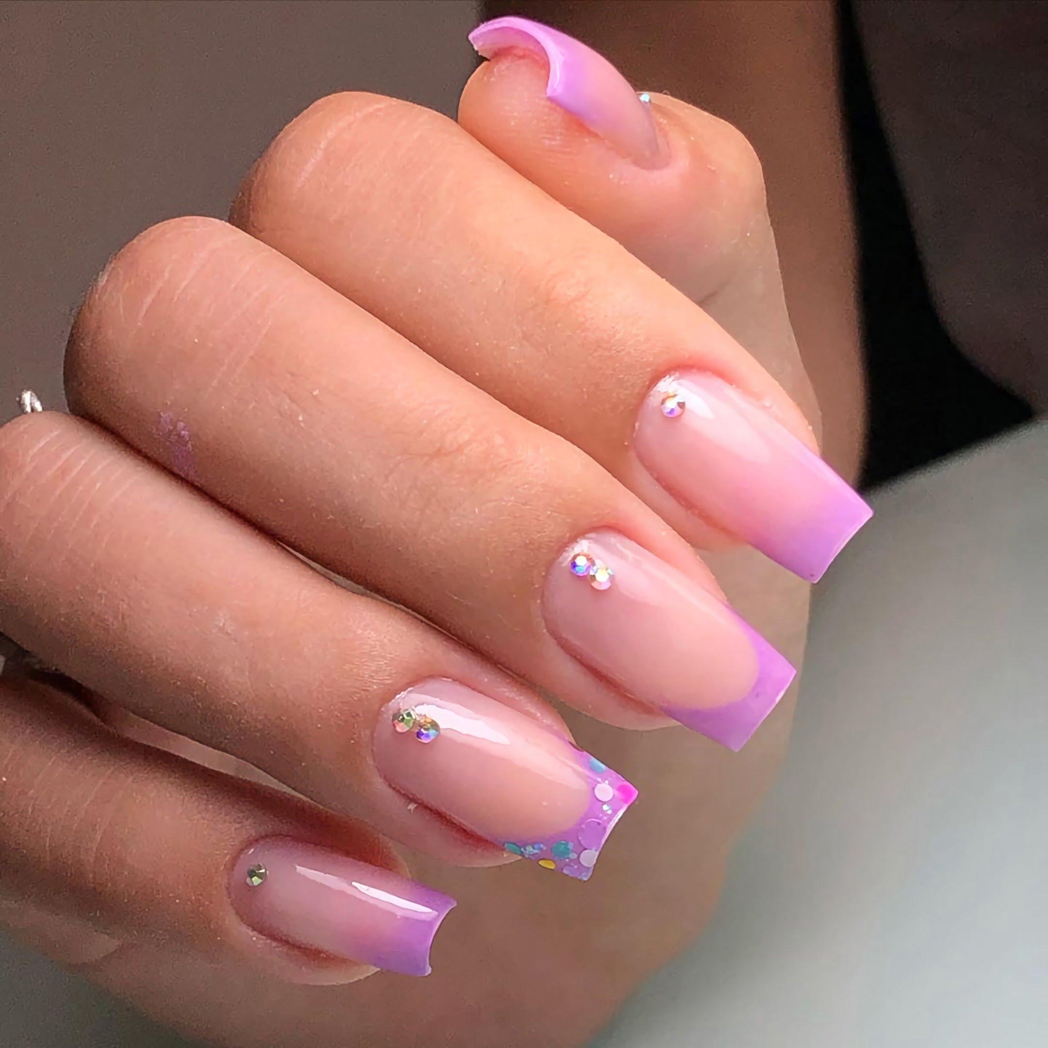 гелевые ногти квадратной формы
