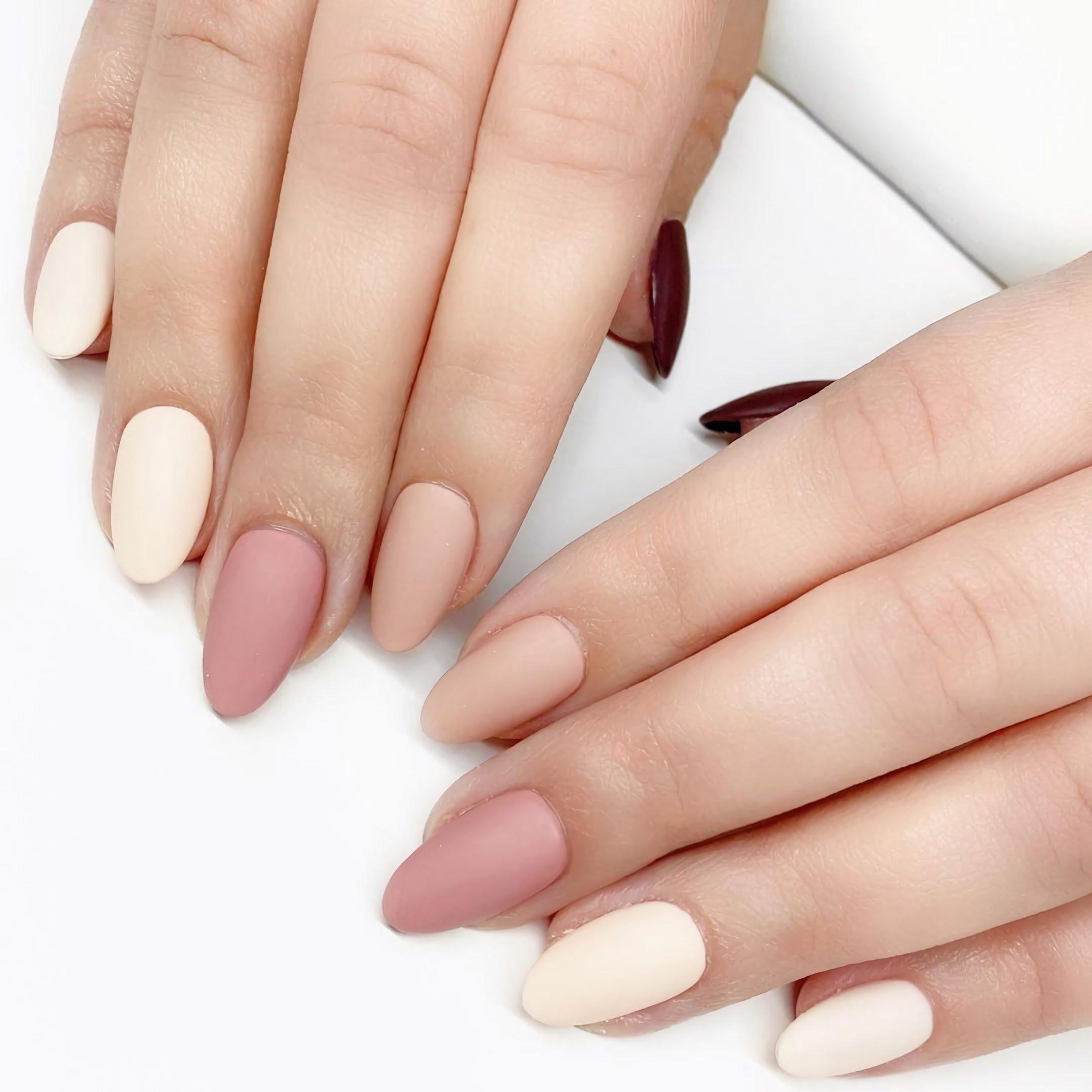 пастельные ногти овальной формы