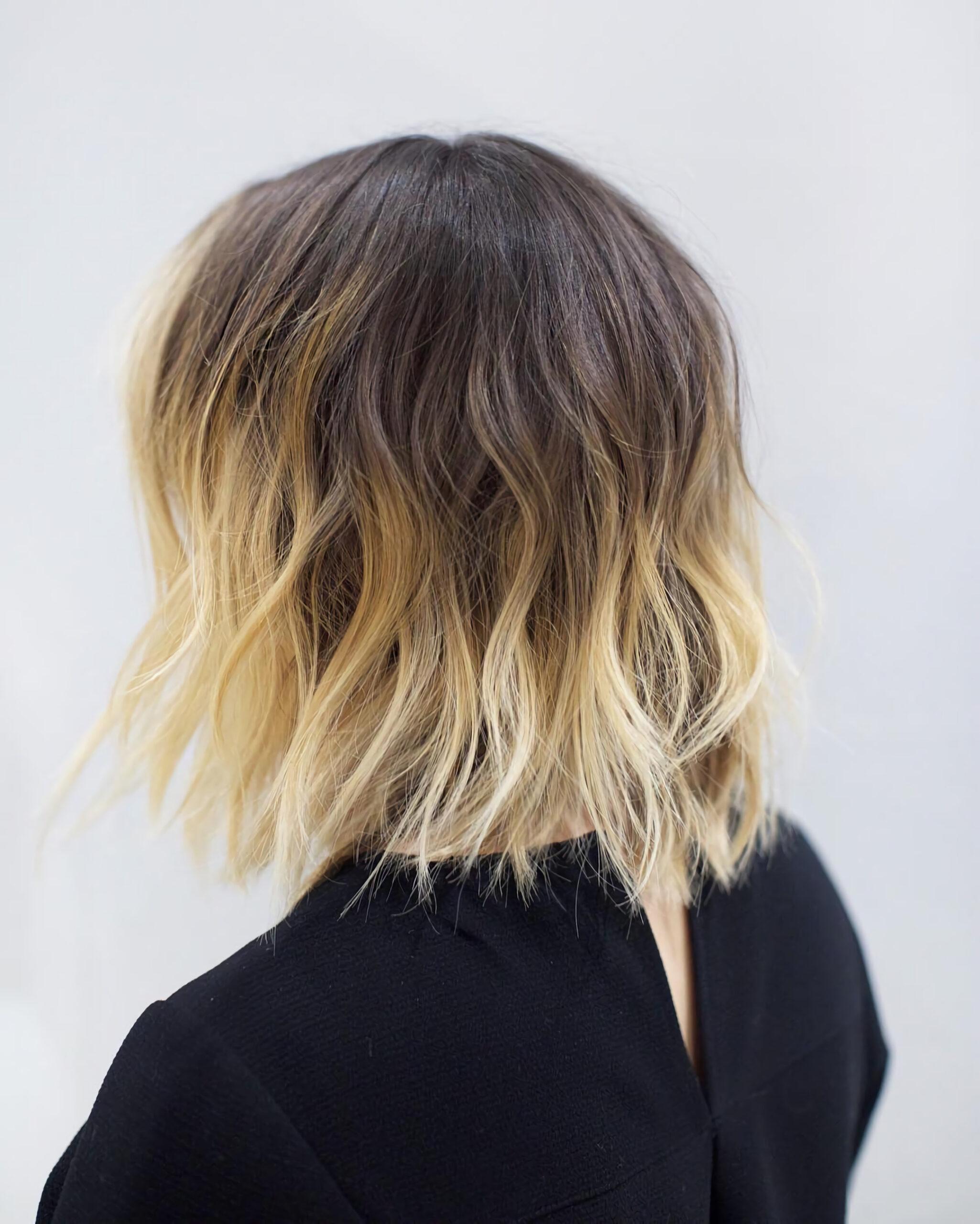 Омбре для тонких волос