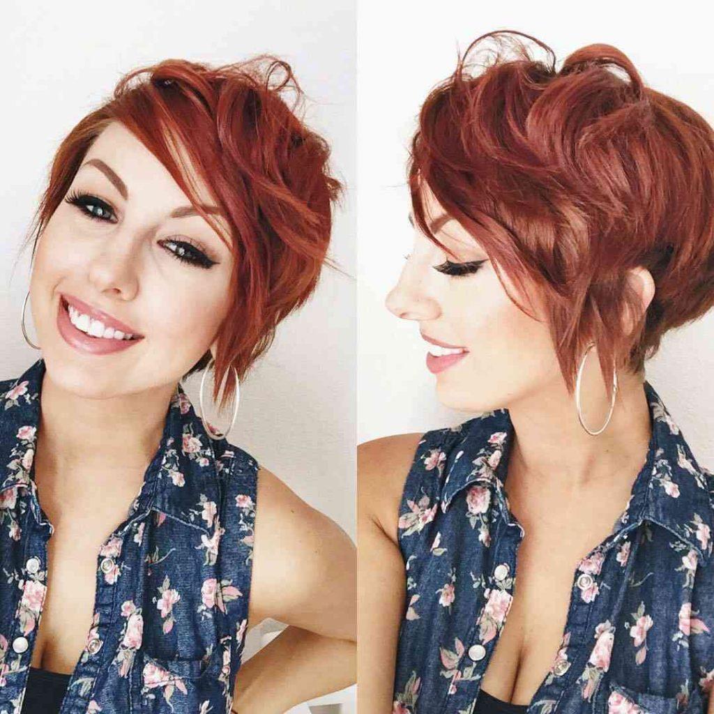 асиметрична зачіска для короткого волосся