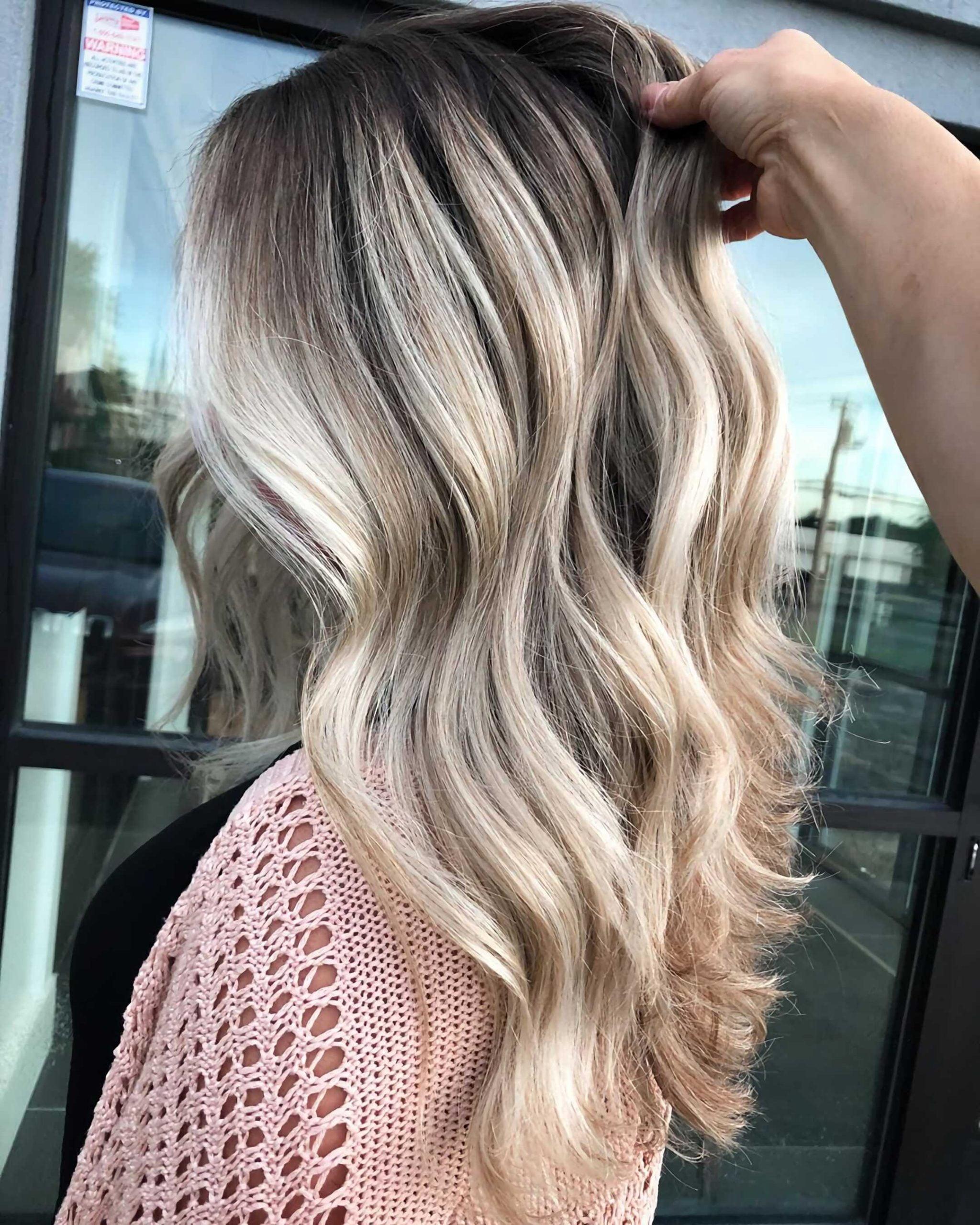 блонд балаяж окрашивание на длинные волосы