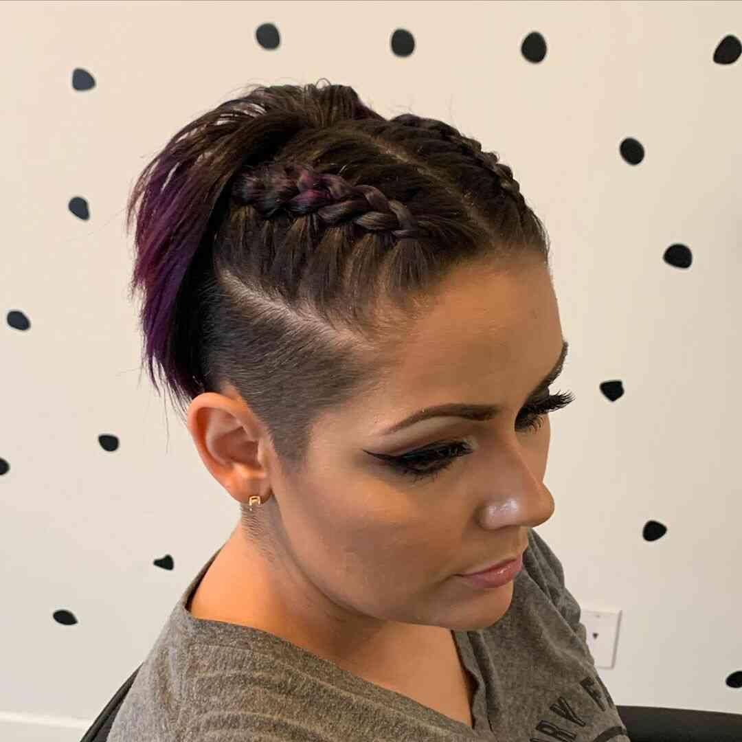 плетеная прическа для коротких волос