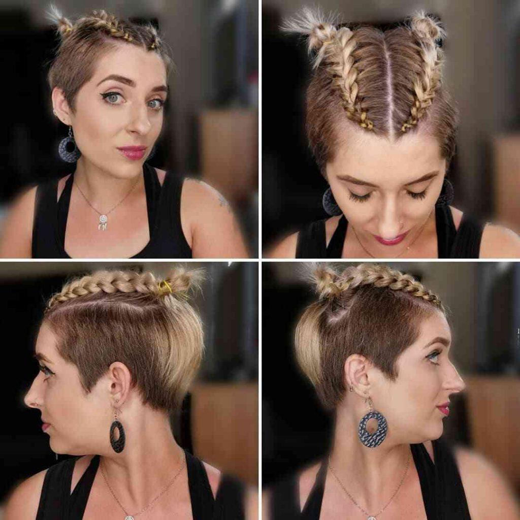 зачіска з косами для короткого волосся