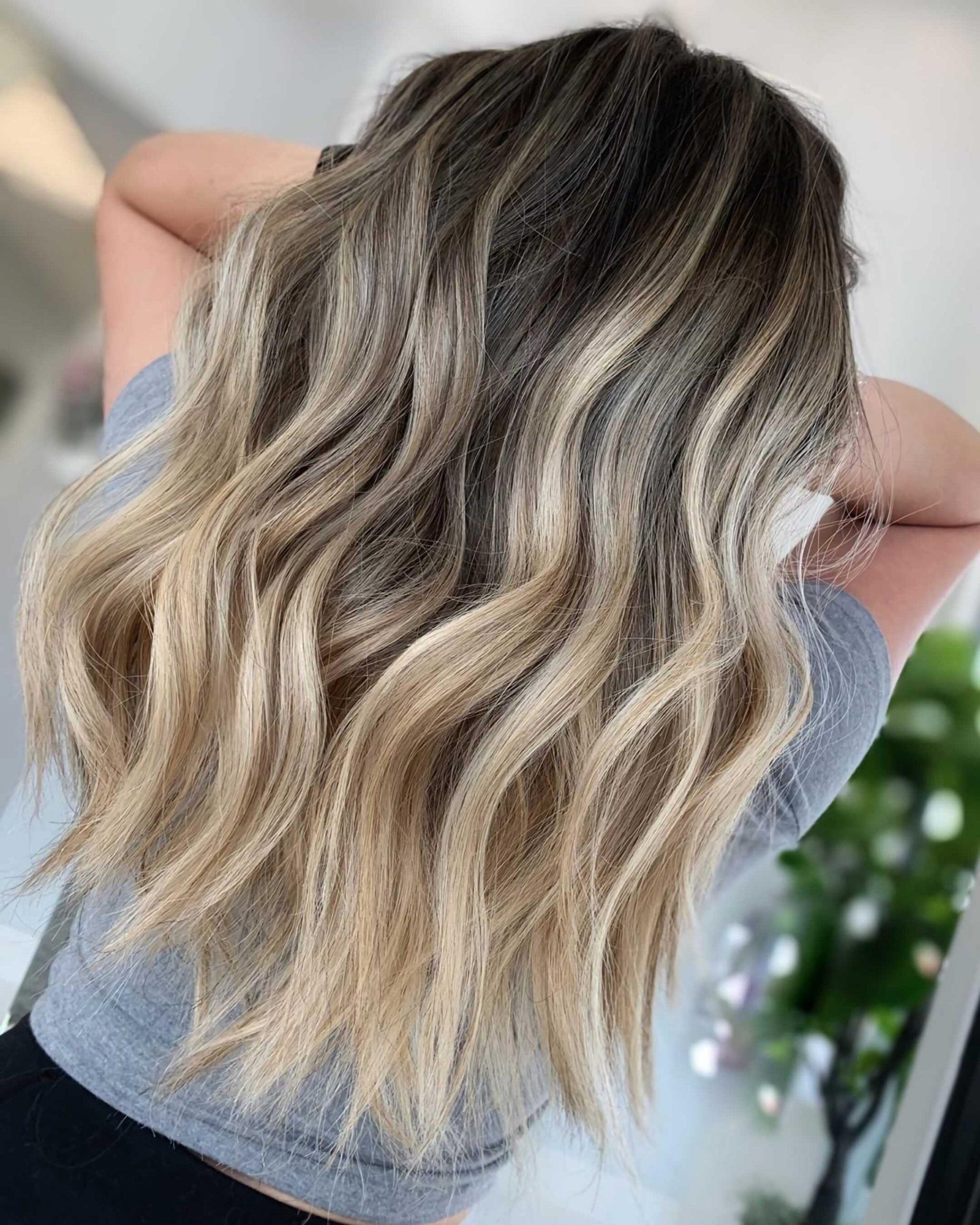 классическое окрашивание волос омбре балаяж