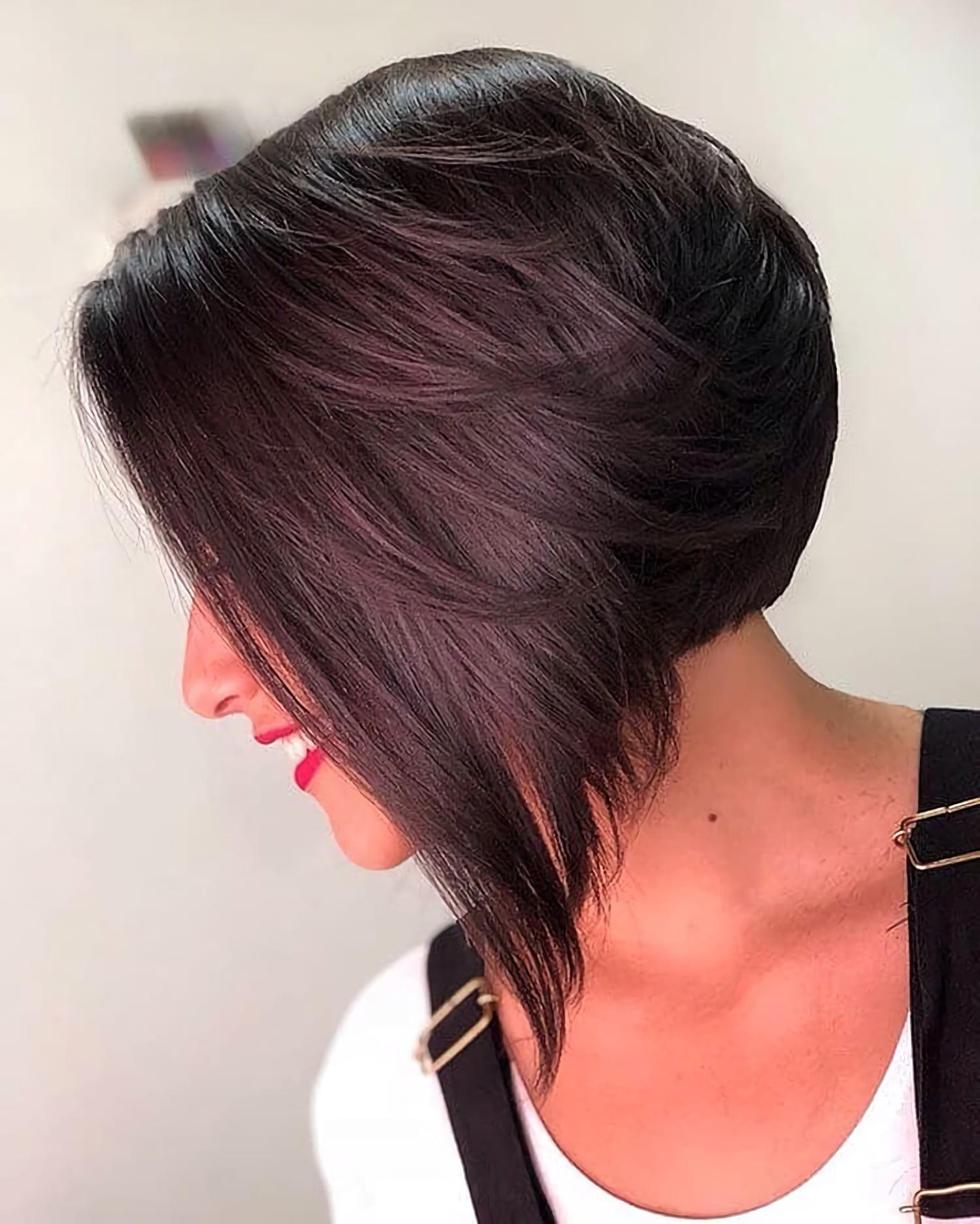 каскадная стрижка на средние волосы