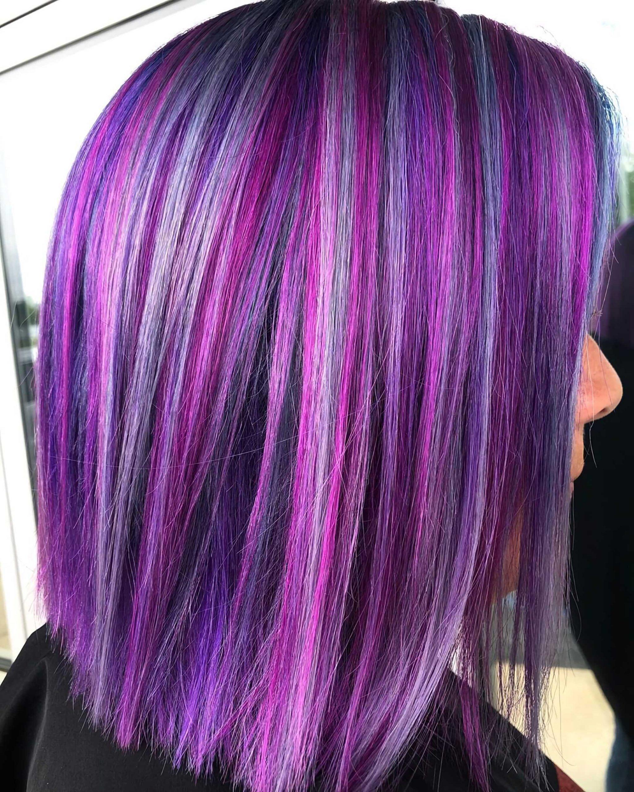 модный фиолетовый боб каре