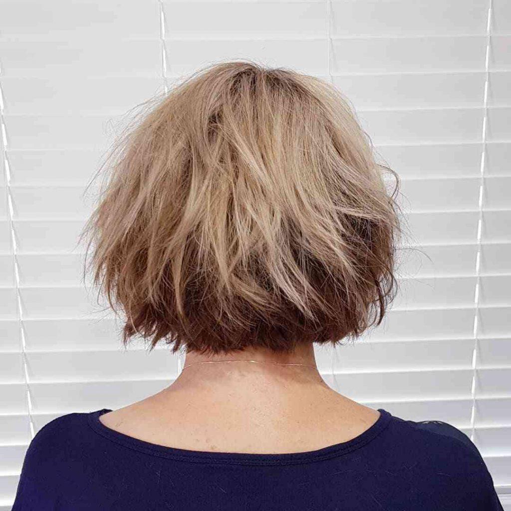 рвана зачіска для короткого волосся