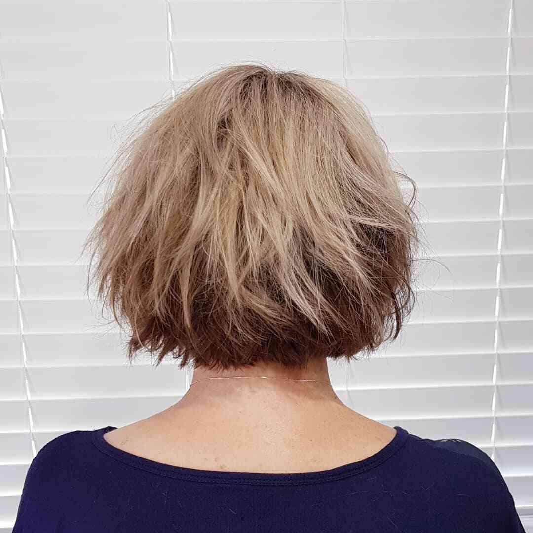 рваная прическа для коротких волос