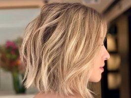 волнистый боб на светлые волосы