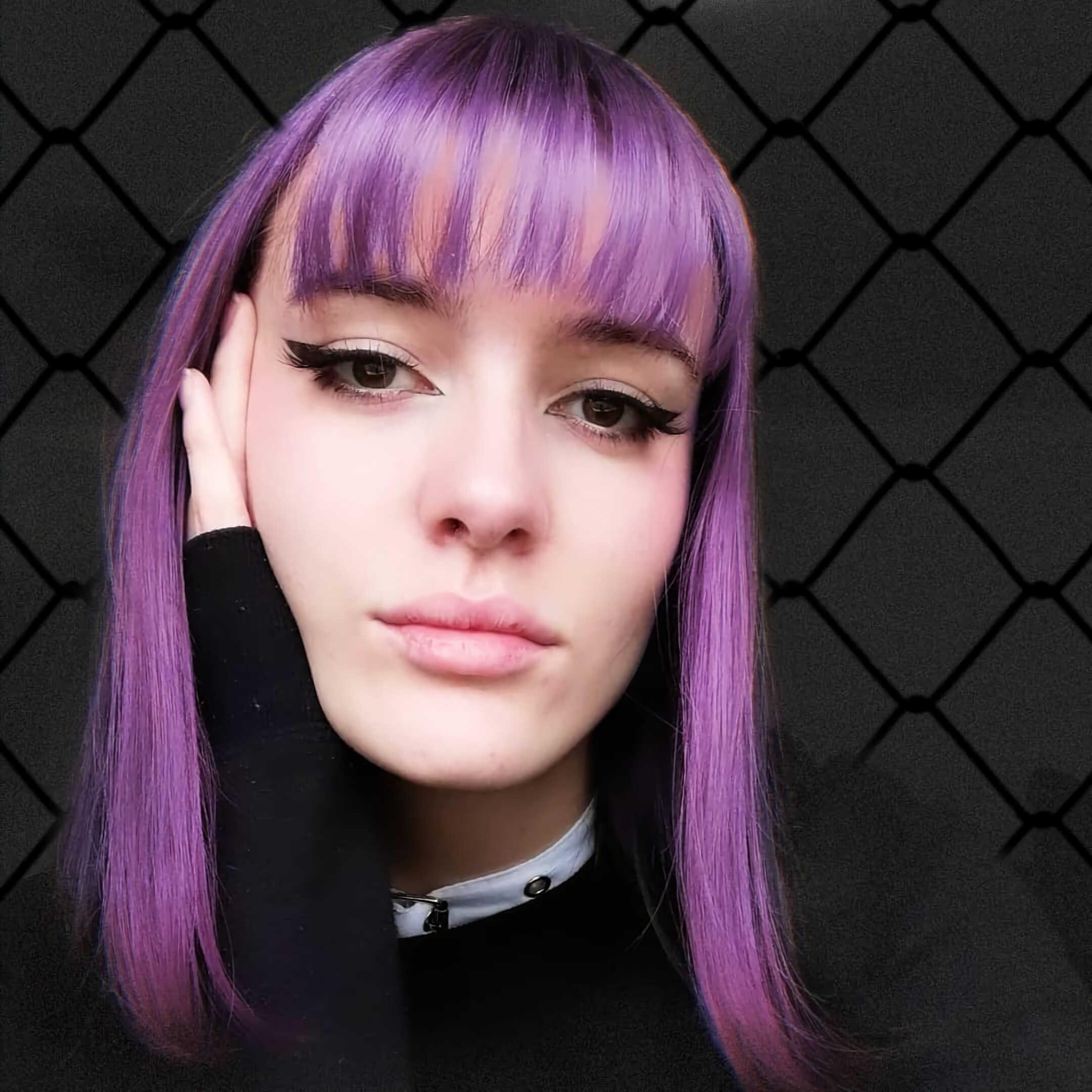 красивые волосы фиолетового цвета