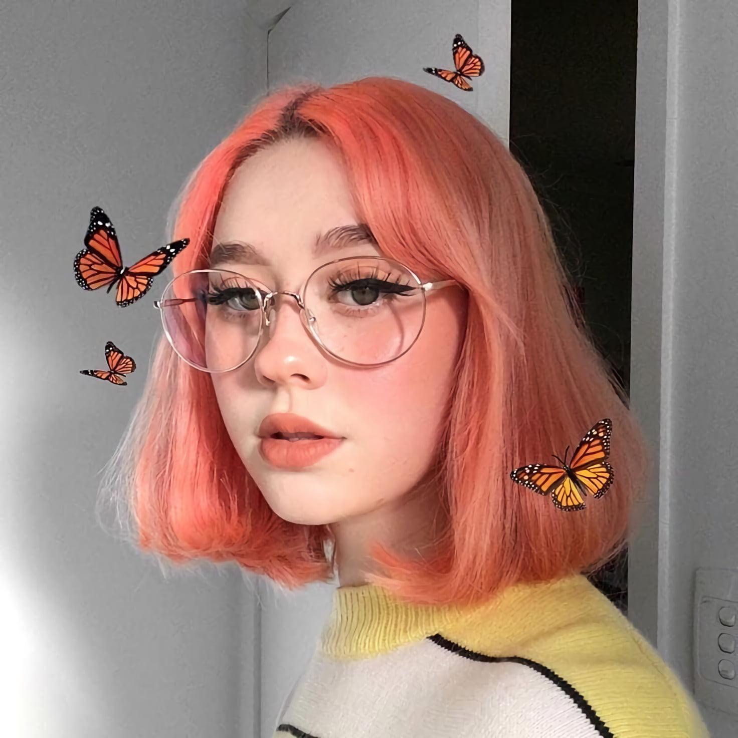 розовые волосы e-girl