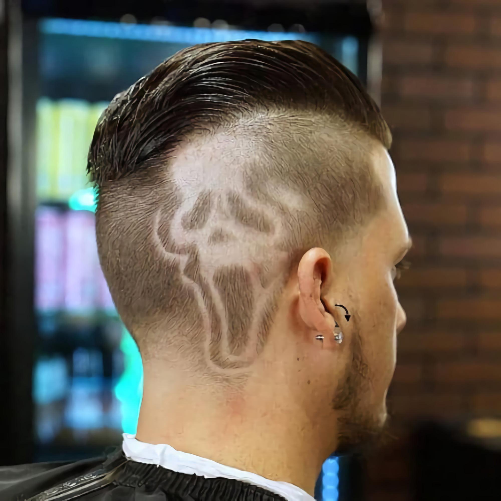 дизайн волос с призраком