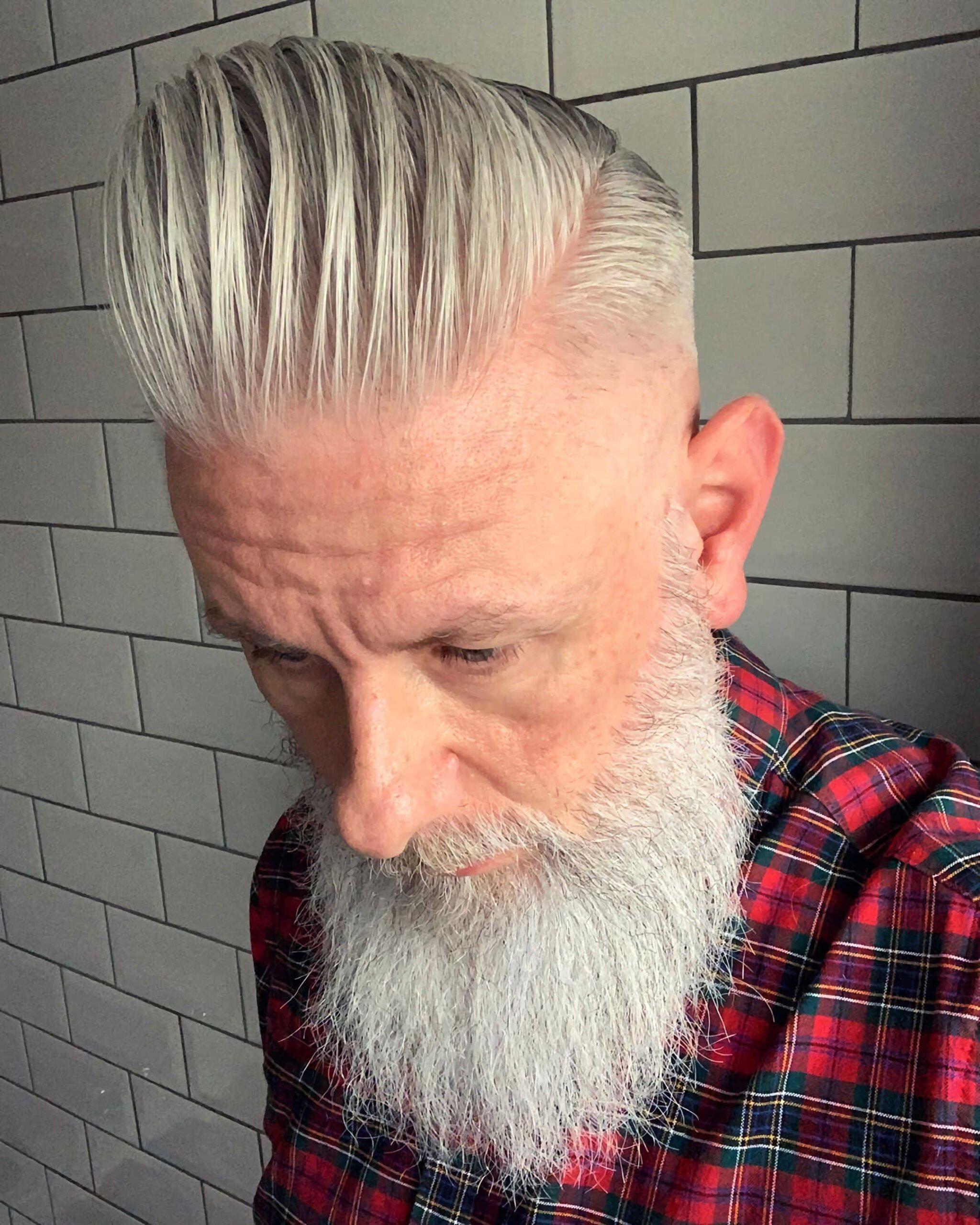 квифф с бородой для пожилых мужчин