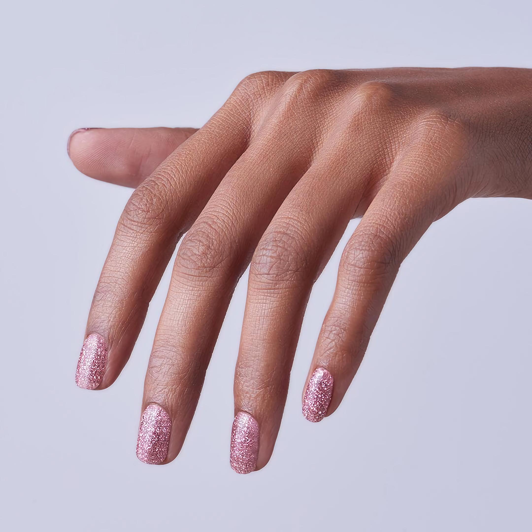 Идеи дизайна ногтей с блестящим розовым оттенком