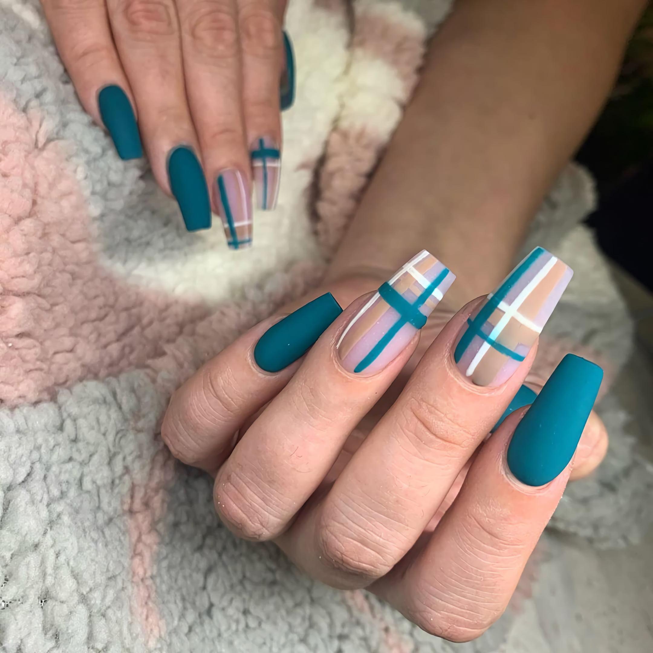 Клетчатые Ногти