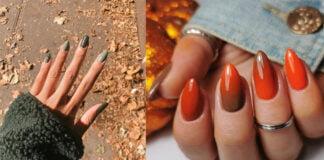 красивый дизайн осенних ногтей