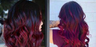 красивые прически с бордовыми волосами