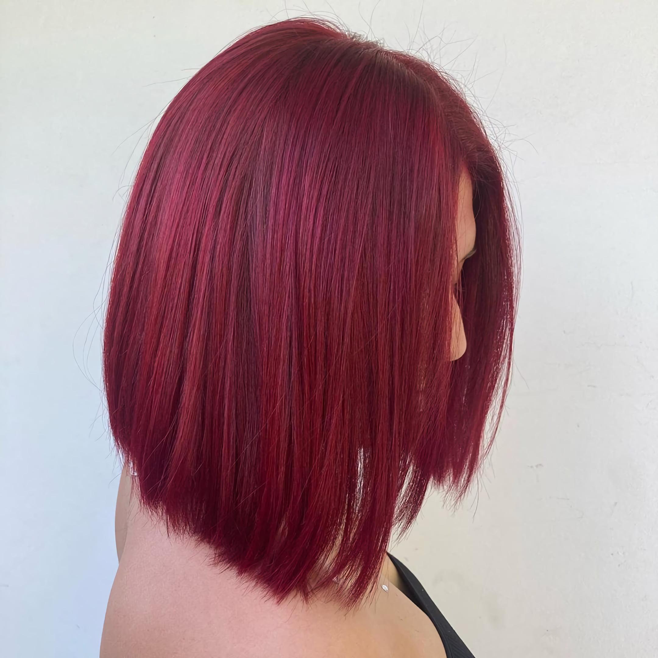 Красные бархатные волосы