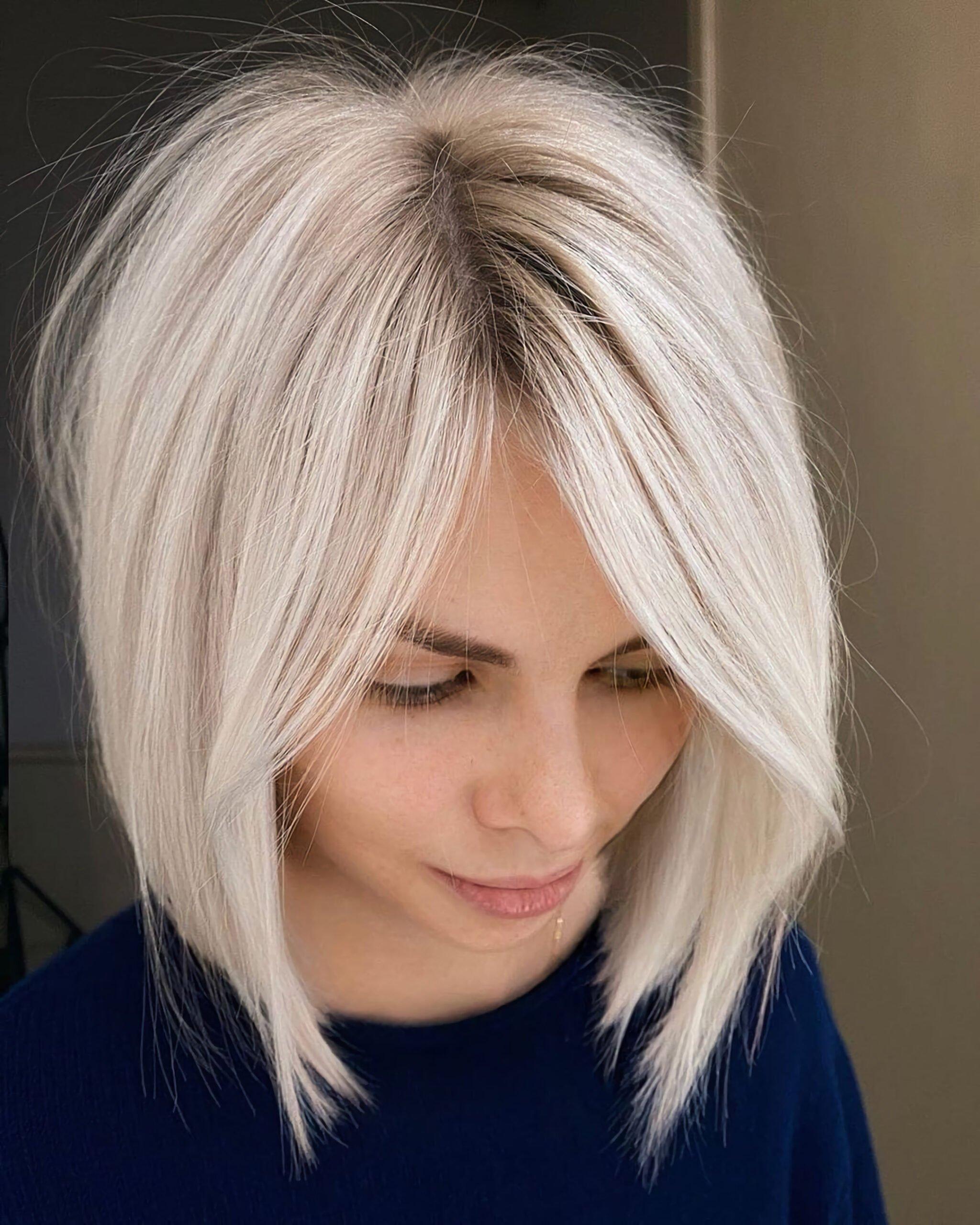 Короткий боб для прямых волос