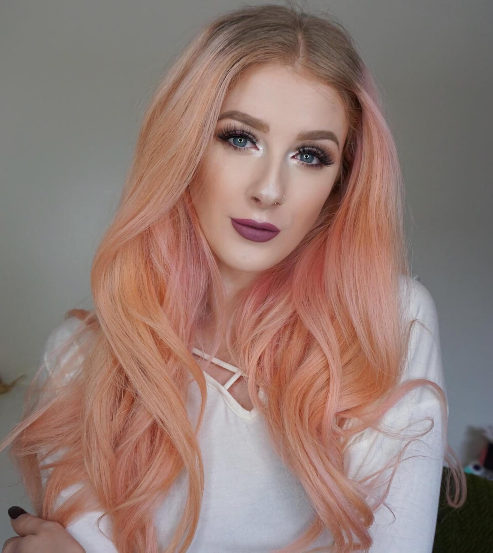 Летние персиковые волосы