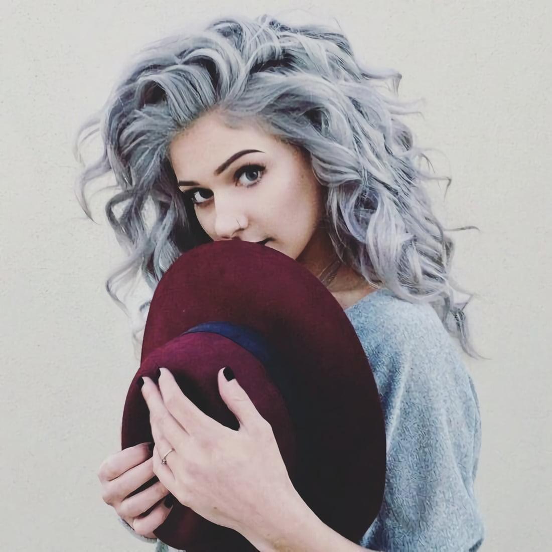 Объемные ледяно-черные волосы с волнами